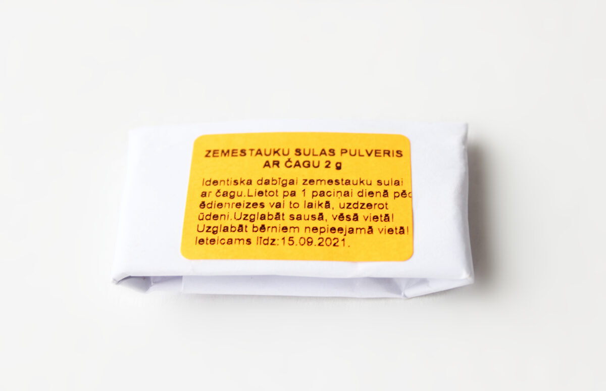 NEW! Common stinkhorn juice powder with chaga 2 g BUY