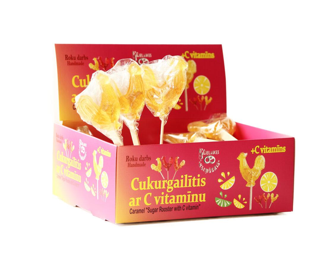 Naujovė! Cukriniai gaideliai su vitaminu C 1 vnt.