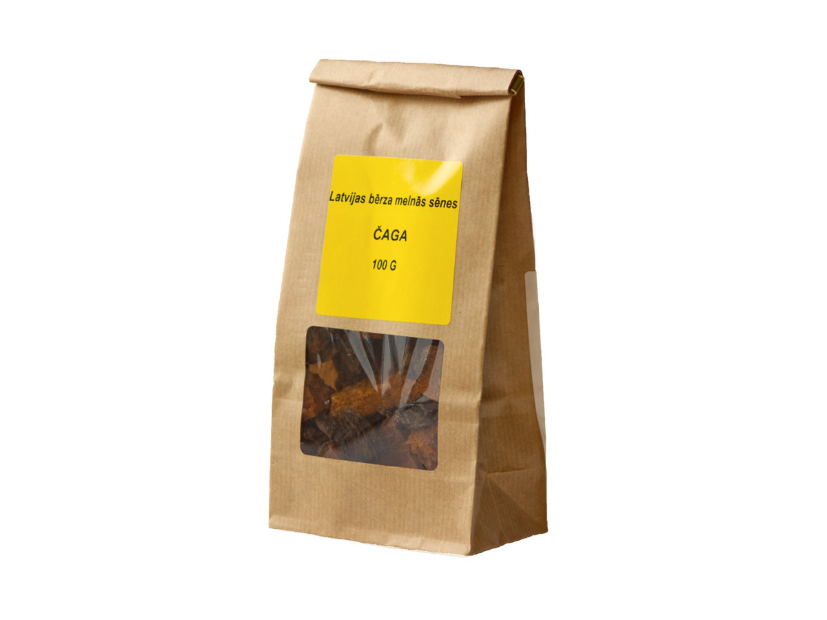 Parched mushrooms birch chaga 100 g ADD TO CART