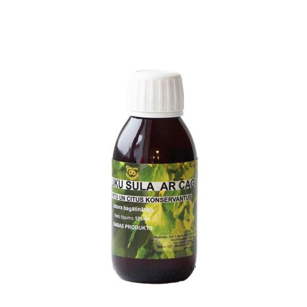 JAUNUMS! Zemestauku sula ar čagu BEZ SPIRTA SATURA 125ml (PVD uztura bagātinātāju reģistra Nr.12915) PIRKT